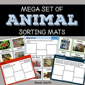 Product cover of Mega Set of Animal Sorting Mats