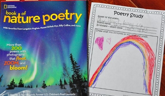 Nature Poetry book and Poetry Notebooking Pages