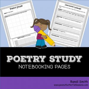 Cover of Poetry Study Notebooking Pages