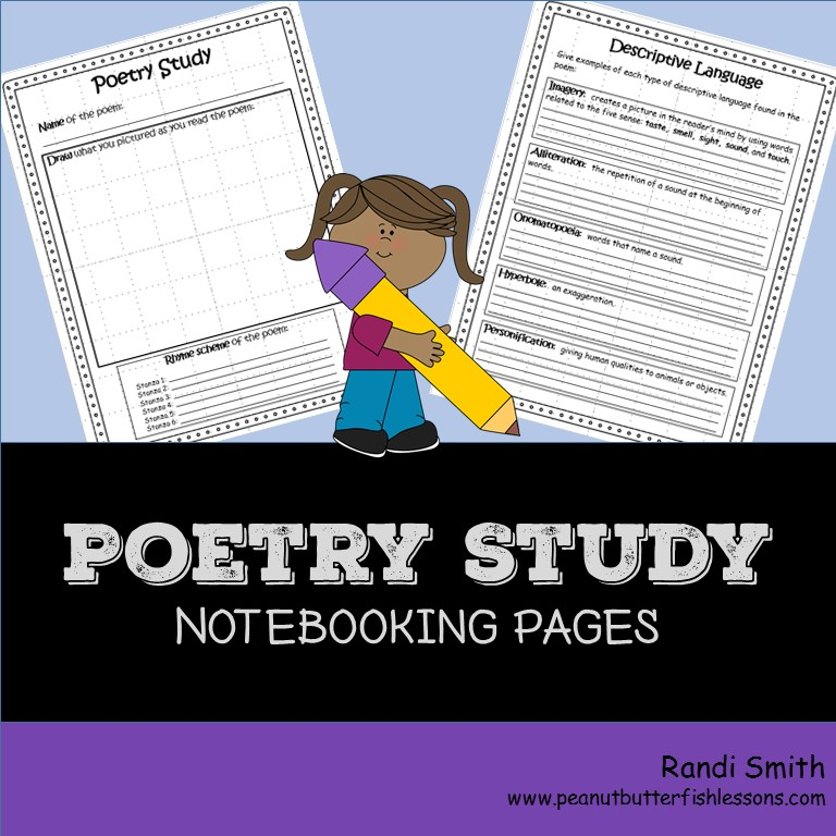 Poetry Study Notebooking Pages