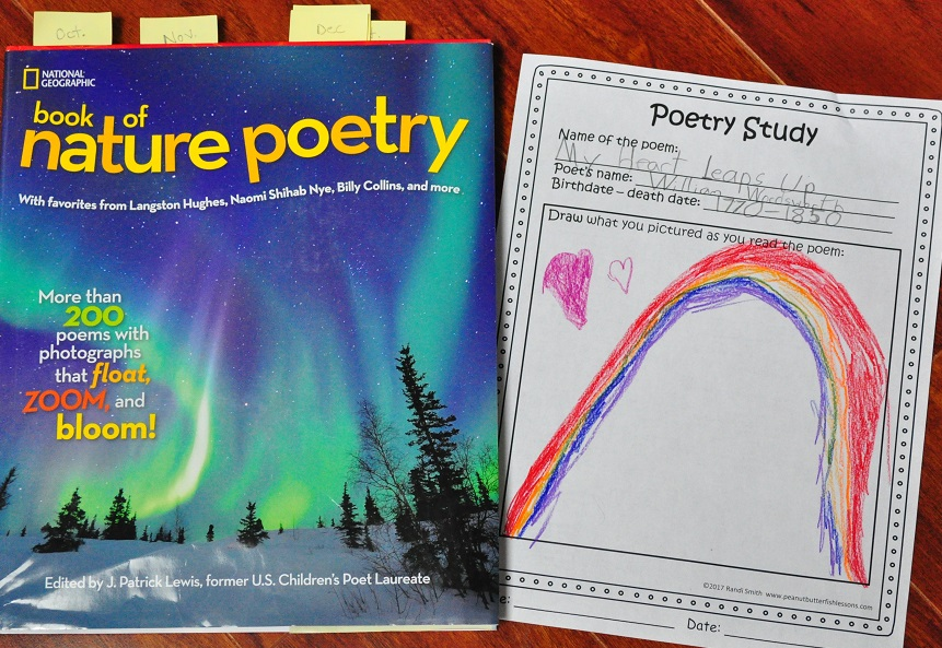 Poetry Book Cover Drawings ~ Poetry study notebooking pages peanut butter fish lessons