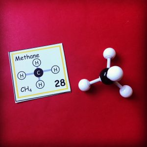 Chemistry concept of the day cards and molecule building kit.