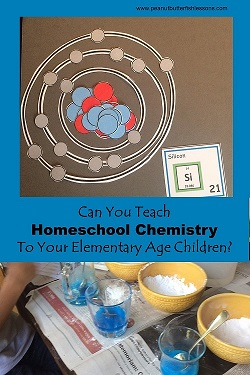 Ideas for curriculum and materials for teaching your elementary age children chemistry.