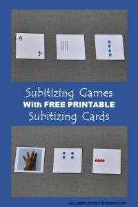 Download these free subitizing cards and improve your child's math skills today.