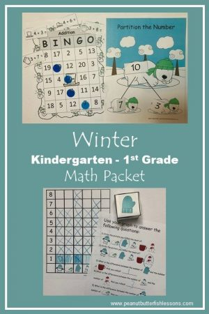 Winter Math Activities for Kindergarten and 1st Grade - peanut ...