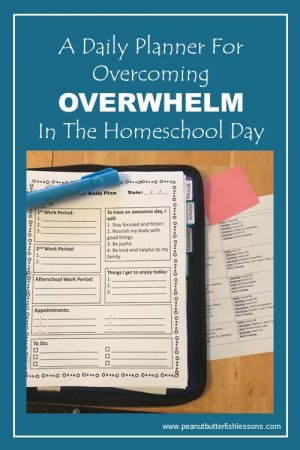 A daily planner to help your child overcome OVERWHELM in their homeschool day.