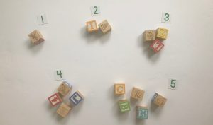 Counting blocks and pairing with written numeral