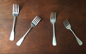 Counting out four forks