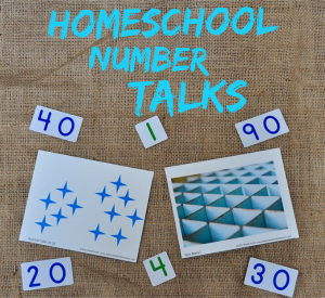 Cover for blog post about homeschool number talks