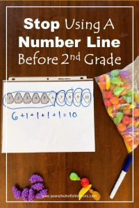 Read this post about why to stop using a number line with children before second grade.
