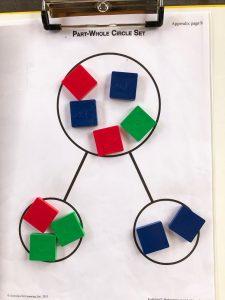 Tiles on a part-part-whole circle