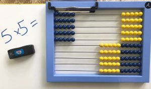 ABacus showing 5 rows of five.