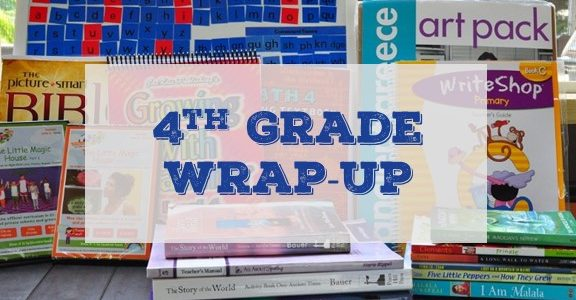 Cover for 4th Grade Homeschool Wrap-Up Blog Post