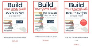 Screen shot of build your own bundle covers
