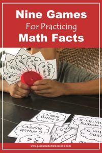 Cover for blog post Nine Games for Practing Math Facts