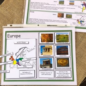 Europer Continent Sorting Mat with Matching Cards