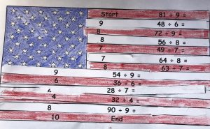 American flag math puzzle