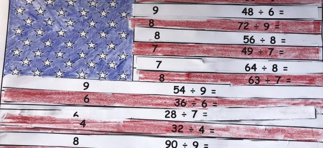 American flag math puzzle