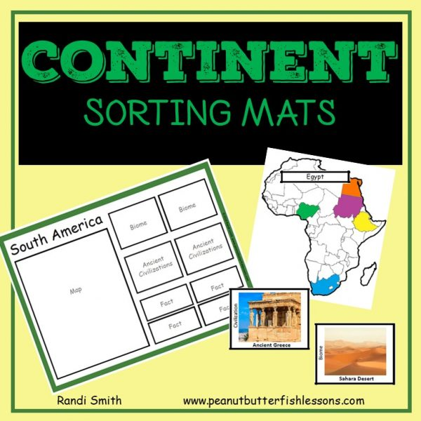 Cover of Continent Sorting Mats