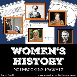 Cover of Women's History Notebooking Pages Bundle