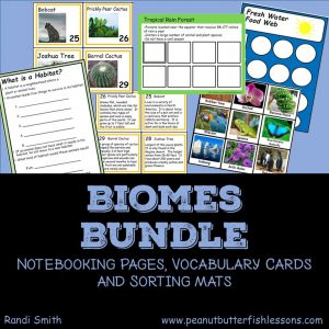 Cover of Biomes Bundle of products.