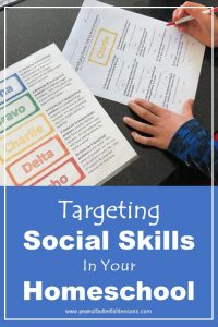 "Cover for post titled ""Targeting Social Skills in Your Homeschool"""