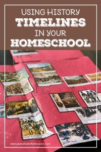 Cover of Using History Timelines in Your Homeschool Blog Post