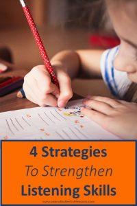 Blog Post Cover: Four Strategies for Strengthening Listening Skills