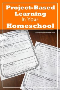 Cover for the blog post titled Project-Based Learning in Your Homeschool