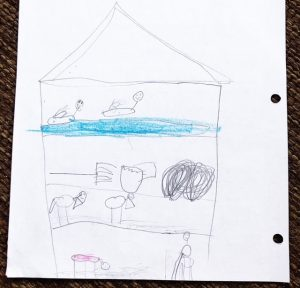 Drawing of barn in Charlotte's Web done by a child.