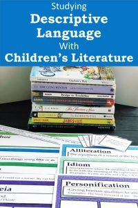 Cover for Studying Descriptive Language in Children's Literature