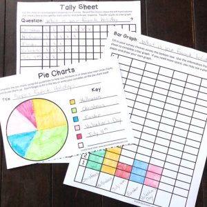 Tally Sheet, Bar Graph and Pie Chart showing People's Favorite Holidays