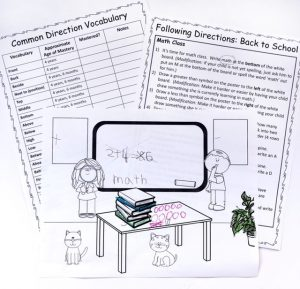 Sample Pages from Listening Skills Packet