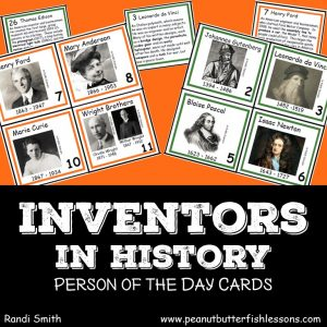 Cover of Inventors in History Person of the Day Cards