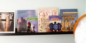 Books about knights and castles for homeschool history lesson