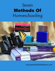 Cover of blog post titled Seven Methods of Homeschooling