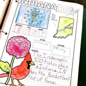 Indiana notebooking page