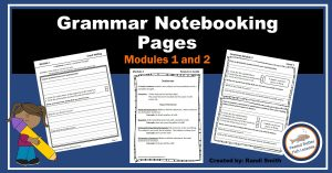 Product Cover for Grammar Notebooking Pages Modules 1 and 2