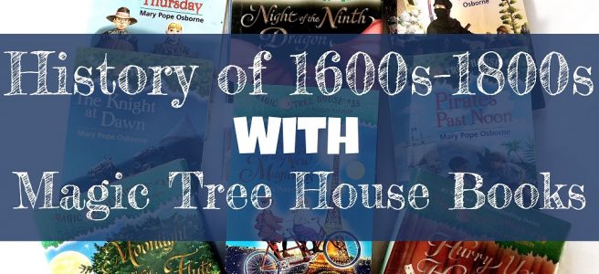 Blog Cover Post, text over picture of Magic Tree House books.