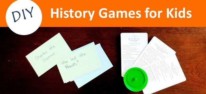 Cover for blog post DIY History Games for Kids