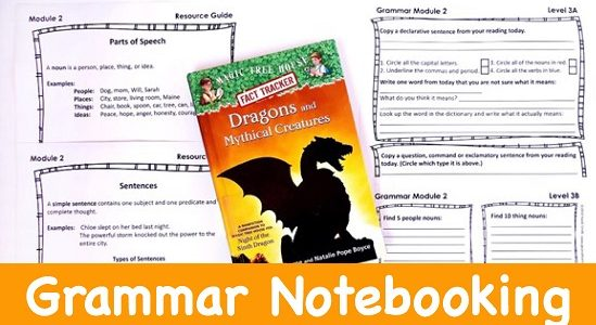 Cover for blog post Fall Back into Homeschooling with Grammar Notebooking