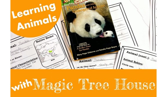 Cover for blog post Learning Animals with Magic Tree House Books