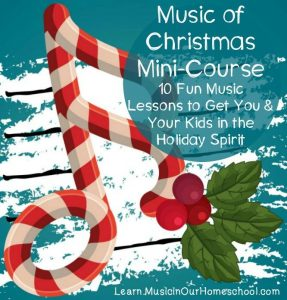 Cover for the Music in our homeschool Music Of Christmas Course