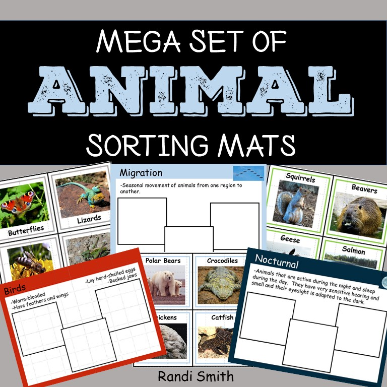Mega Set of Animal Sorting Mats
