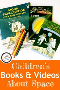 Cover for blog post Children's Book and Videos About space