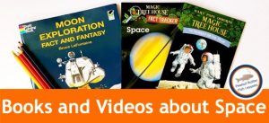 cover for blog post Children's Books and Videos about space