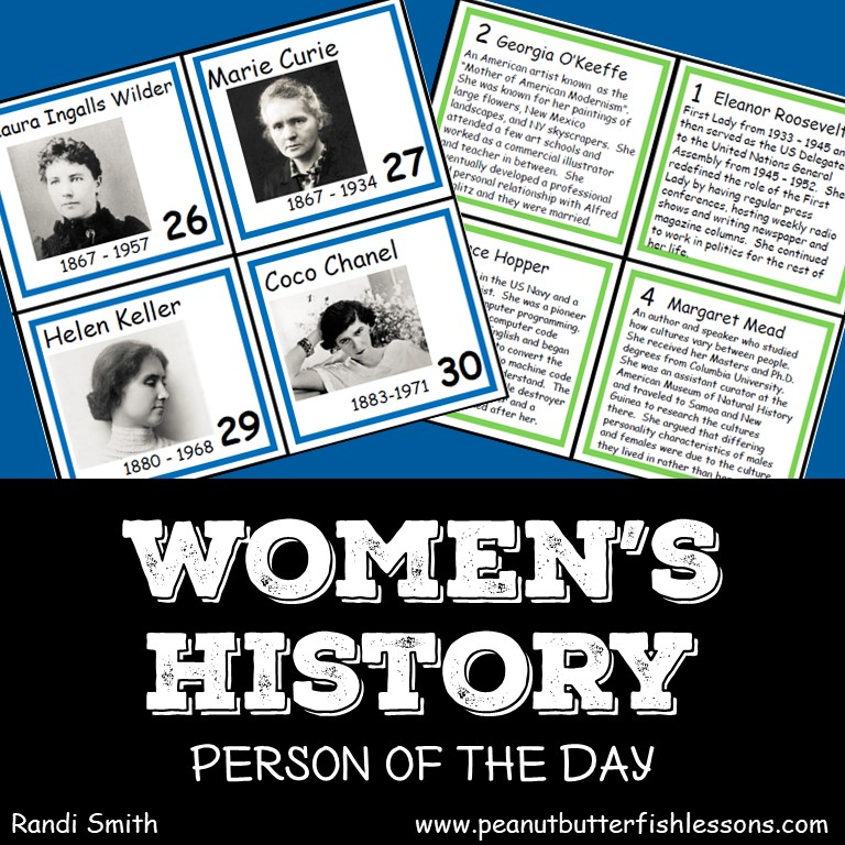 Women's History Person of the Day Cards