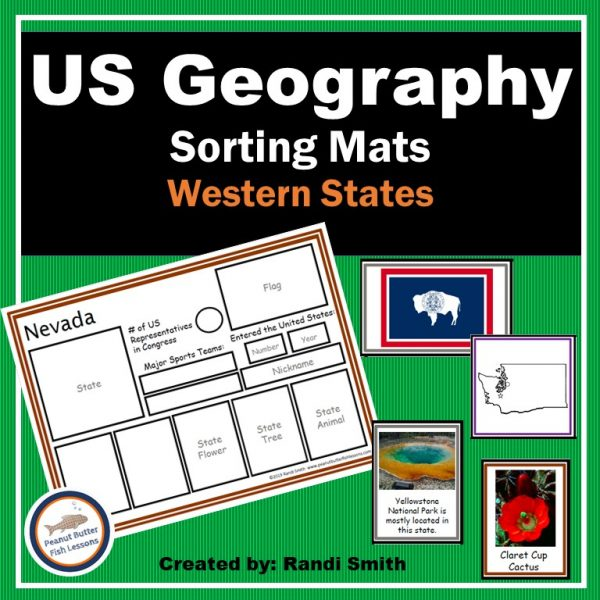Cover for US Geography Sorting Mats: Western States