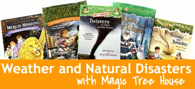 Cover for blog post Learning Weather and Other Natural Disasters with Magic Tree House