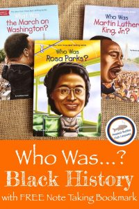 Pinnable cover for blog post Who Was...in Black History